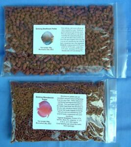 Beef heart 100g And Blood Worm 100g Sinking Pellet Discus Fish Food Bundle Deal.