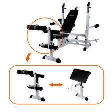 CLIFE Panca Multifunzione Fitness con 15kg Pesi - Argenta/Nera