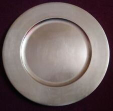 LARGE GOLD METALLIC ROUND CHARGER PLATE / PLATTER, SIZE : 35.7 CM / 14.060 IN...