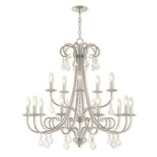 Livex Lighting Daphne 15 Light Foyer Chandelier in Polished Chrome - 40879-05