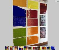 """#005 Lot Of 13 MIXED Pieces 6x4""""+/- Stained Glass Sheet SHIPS FREE PICSRLikeUGet"""