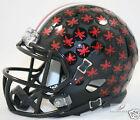 OHIO STATE BUCKEYES (MATTE BLACK w/ Red Buckeyes) Riddell Speed Mini Helmet