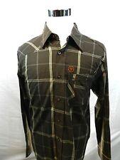 Urban Heritage Mens Brown Check Button-Down Long Sleeve Cotton Shirt Size XL