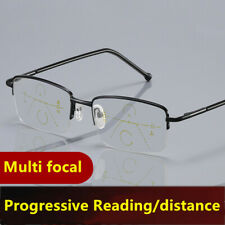 Smart zoom Anti blue light Progressive Multifocal distance reading glasses