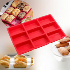 9Cup Diy Silicone Mini Cake Loaf Pan Food Grade Brownie Mold Homemade Soap Mould