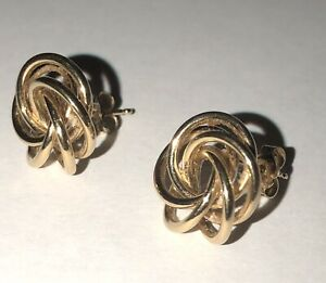Lovely 14 Karat Gold Swirl Earrings