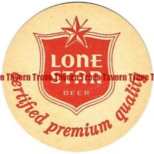Original 1960s TEXAS San Antonio LONE STAR BEER 4 inch Coaster