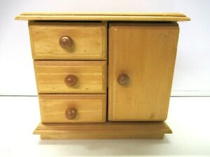 Vintage Small Cupboard Cabinet Small Display Storage Wot Not Jewellery Kitchen