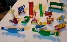 Mixed Lot of 15 Vintage Doll House Furniture Outside Play & Other