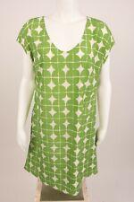 Isaac Mizrahi Live Women's Shirt Dress Small Polka Dot Geometric Green White