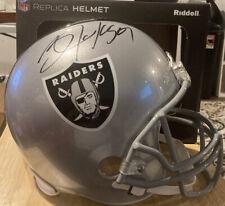 Bo Jackson Autographed Raiders Football Helmet Full Size Riddell NFL