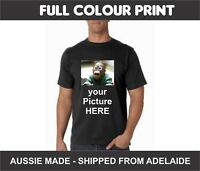 Custom Printed Image Photo Picture Personalised Printed T Shirt Printing Aussie