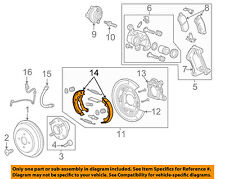 Chevrolet GM OEM 14-15 Spark Parking Brake-Shoes 95280779