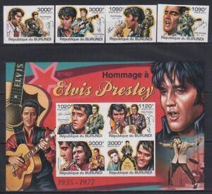A839. Burundi - MNH - Famous People - Elvis Presley - 2011 - Imperf