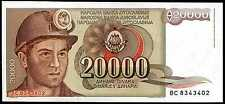 YUGOSLAVIA  -  20000   DINARA  1987  Prefix BC -  P 95  Uncirculated Banknotes