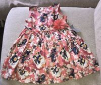 BNWT Matalan Baby Girls Floral Patterned Sleeveless Dress. Age 12-18 Months