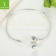 Silver Basic Snake Chain Magnet Clasp fit Children Charm Bracelet & Bangle 17cm