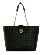 Guess Black Quilted Large Carryall Tote Handbag Bnwt
