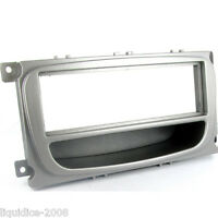 Ford Mondeo MK4 2007 >Silver CD Radio Plate Stereo Facia Fascia Adaptor Panel