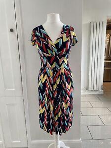 Onjenu Absract Dress With Pockets  Size UK 10 Bright Bold