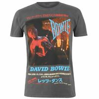 Official Mens Band T-Shirt David Bowie Crew Neck Tee Top Short Sleeve Cotton