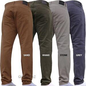 New Mens DENIM AND DYE Colour Denim Jeans Plus King Regular Straight Pants