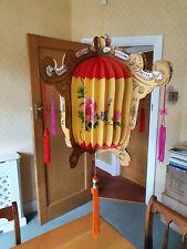 Vintage colorida chinos Lámpara Colgante Forma Linterna de papel con borlas