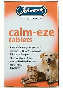 JOHNSON'S CALM-EZE TABLETS (36)HELPS CALM & SOOTHE DOGS, CATS VETERINARY