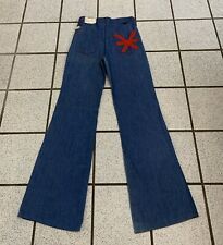 Vintage Girls Bell Bottom Jeans Disco Hippie 24 X 29 Flare 1970s NEW Sz 10