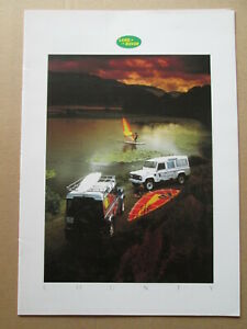 .Land Rover County  brochure LR406 1986.Range Rover brochure.4 x 4 brochure.