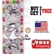Clear Braid Girls Scrunchie Jumbo XL Beads Hair Tie Ball Ponytail Holder Band