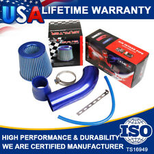 Air Intake Kit Blue Pipe Diameter 3Inch+Auto Cold Air Intake System Filter+Clamp