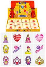 36 Mini Princess Temporary Tattoos Girls Party Bag & Stocking Fillers - N51 041
