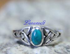 Keltischer Ring mit Türkis Silber 925