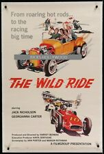 Original WILD RIDE Linen Backed 1 Sheet JACK NICHOLSON BAD BOY RACING CLASSIC