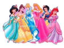 ~~  MAXI  Wall Art Deco Sticker  6 Disney Princesses  ~~
