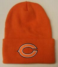 NFL Chicago Bears Reebok Orange Cuffed Winter Knit Hat Beanie Cap OSFA NEW!