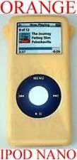 Orange TOUGH SKIN COVER CASE for IPOD NANO 2GB 4GB