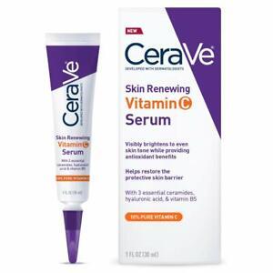 CeraVe Skin Renewing Vitamin C Face Serum with Hyaluronic Acid (1 fl.oz / 30 ml)