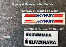 SKYWAY & KUWAHARA Bar Decals, 1 pair, ( your choice from 2 styles shown)