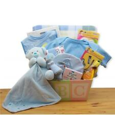 Gbds 890332-B Easy as Abc New Baby Gift Basket - Blue