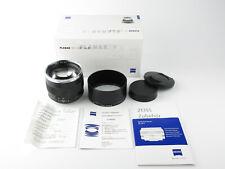 Für Canon EF Carl Zeiss Planar 1,4/85 ZE T* Objektiv lens + hood Boxed neuwertig