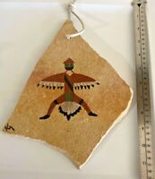 Native American - Zuni Bird Sand Painting on Slate - Signed