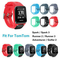 Silicone Bracelet Bande Sangle Pour TomTom Runner 2 / 3 Spark 3 Sport GPS Watch