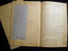1825 - 35 MANUSCRIPT SUPERCARGO ACCOUNTS BRIG DIOMEDE SCHOONERS WILLIAM & MILO +