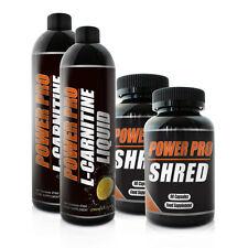 Power Pro 2x L-Carnitine Liquid & 2x Shred Fat Burners - 2 Month weight loss