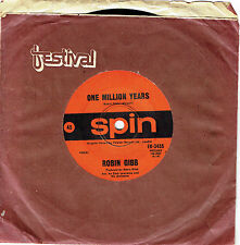 "ROBIN GIBB - ONE MILLION YEARS - 7"" 45 VINYL RECORD - 1969"