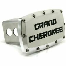 """Jeep Grand Cherokee 2"""" Tow Hitch Cover Plug Engraved Billet Aluminum"""