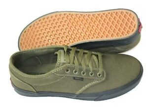 Vans Mens Atwood Black Outsole Canvas Skate Shoes Beech Green Size 10 NWT