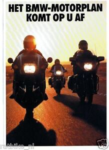 FN428-BROCHURE BMW MOTORPLAN 1988 DUTCH 6 PAGES,K1,K100LT,K75,R80RT